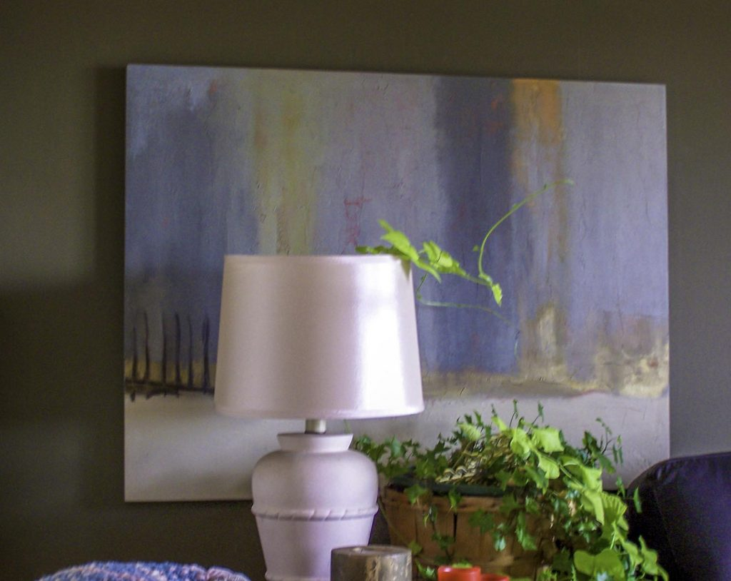 A painting in its home