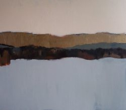 """Land Before Time 5 36"""" x 42"""" Acrylic on Panel"""