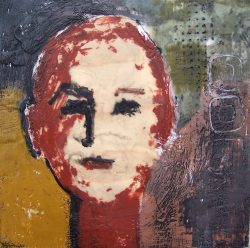 "Cherie 26 14"" x 14"" Encaustic on Panel"