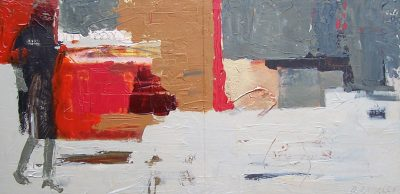 """Day 5 14"""" x 28"""" Acrylic on Canvas"""