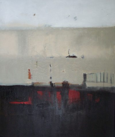 """Japanese Sun 36"""" x 30"""" Acrylic on Canvas plus Frame"""