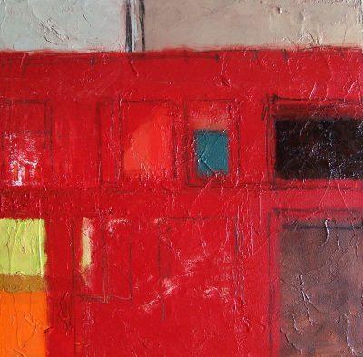 "Metaphor 7 18"" x 18"" Oil on Panel"