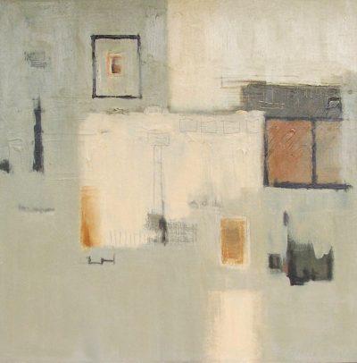 "Untitled 061509 20"" x 20"" Acrylic on Canvas"